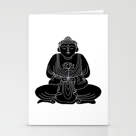 Buddha with Lotus Flower Stationery Cards