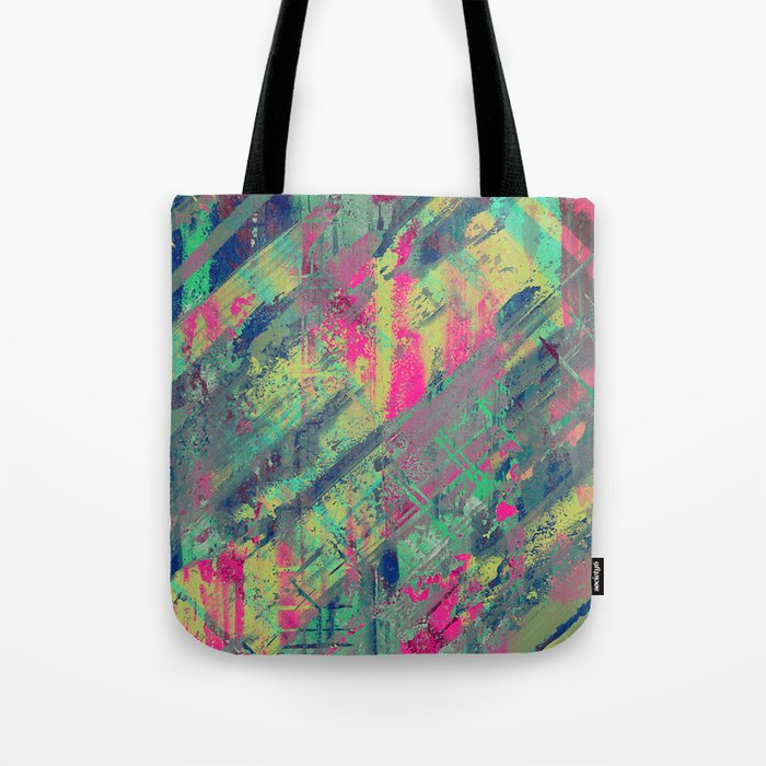 Colour Relaxation - Abstract, textured oil painting Tote Bag