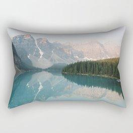 Pastel Sunrise over Moraine Lake Rectangular Pillow
