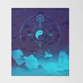 Sacred Geometry (Balance) Throw Blanket