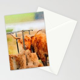 Highland cow watercolor painting #8 Stationery Cards