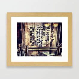 Mixed and Brewed  Framed Art Print