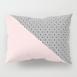two triangles - blush and small xo Pillow Sham