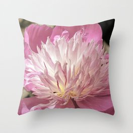 Pink Peony Bowl of Beauty Throw Pillow