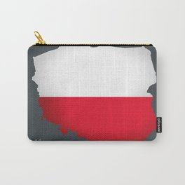 Poland map special artwork style with flag illustration Carry-All Pouch