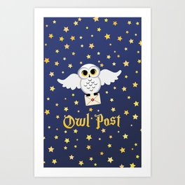 Owl Post - Borderless Art Print