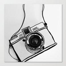 White Moodie Lomo Canvas Print