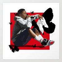 kendrick lamar Art Prints featuring Kendrick Lamar by MikeHanz