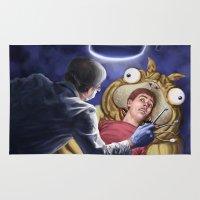 dentist Area & Throw Rugs featuring Brilliant Hallucination by John VanHouten
