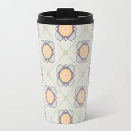New Beginnings Flower Print Seamless Pattern Travel Mug