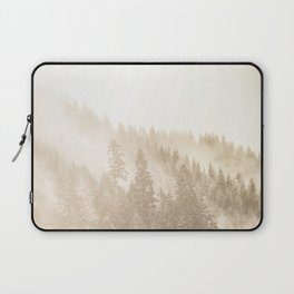 Vintage Sepia Fir Trees Laptop Sleeve