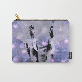 ELEPHANT AND LILAC PURPLE VIOLET BLOSSOMS Carry-All Pouch