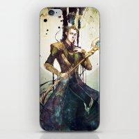 loki iPhone & iPod Skins featuring Loki by Mony