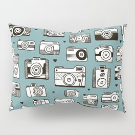 Smile action toy camera vintage photography pattern Pillow Sham