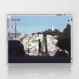 Silhouette from Near Lombard Looking Toward Coit Tower, San Francisco Laptop & iPad Skin
