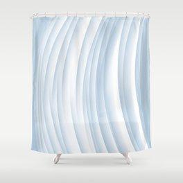 Fanned blue Shower Curtain