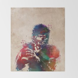 American football player 3 Throw Blanket