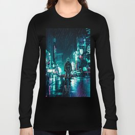 Another Rainy Night ( The Continuous Tale Of The Lost Astronauta) Long Sleeve T-shirt
