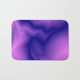 Pastel lines of violet lightning with a vintage gap. Bath Mat