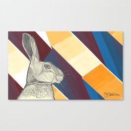 stand up straight   maroon (rabbit & hare series) Canvas Print