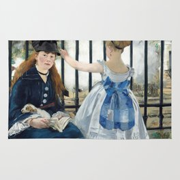 Edouard Manet - Le Chemin de fer (The Railroad) Rug