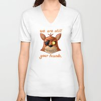 fnaf V-neck T-shirts featuring FNAF Foxy by Bloo McDoodle