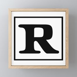 Rated R Framed Mini Art Print