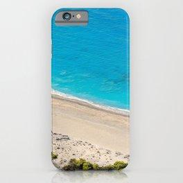 The beach Yialos in Lefkada, Greece iPhone Case
