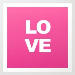LOVE Pink Pring Decor Art Print