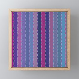 Multi-faceted decorative lines 3 Framed Mini Art Print