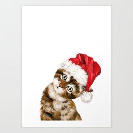 Christmas Baby Cat Art Print