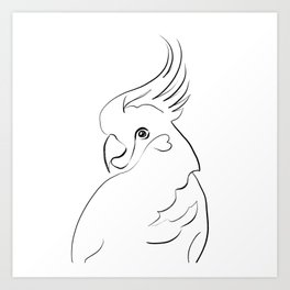 Parrot one line drawing Art Print