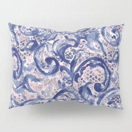 Vinage Lace Watercolor Blue Blush Pillow Sham