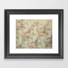 Adorkable Framed Art Print