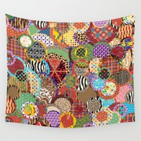 quilt Wall Tapestries featuring Quilt Doodle by DesignsByMarly