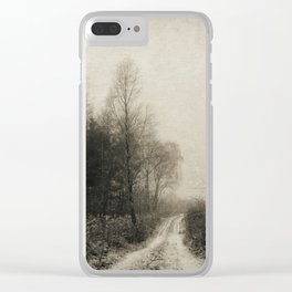 Snowfalls Gone By Clear iPhone Case