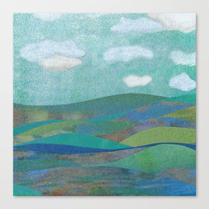 COLLAGE LOVE: Seascape Canvas Print