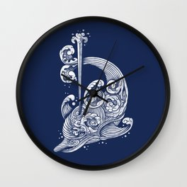 The Dolphin Wave Wall Clock