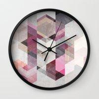 nordic Wall Clocks featuring Nordic Combination 22 Y by Mareike Böhmer