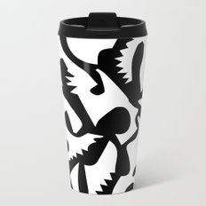 black ghosts Metal Travel Mug