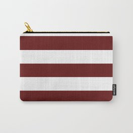 Blood (organ) - solid color - white stripes pattern Carry-All Pouch