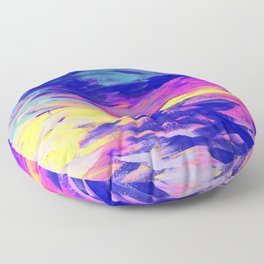Neon Mimosa Inspired Painting Floor Pillow