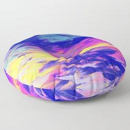 Neon Mimosa Inspired Painting Floor Pillow