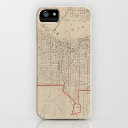 Vintage Map of Louisville KY (1880) iPhone Case