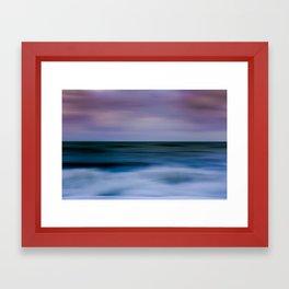 Pink Sky Blue Sea Framed Art Print