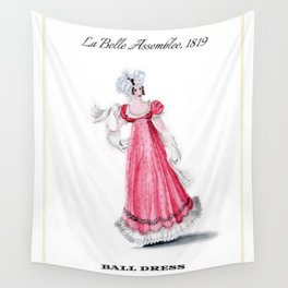 Fashion Plate 1819, Regency England Wall Tapestry