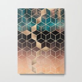 Ombre Dream Cubes Metal Print