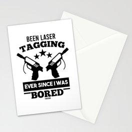 Lasertag saying Stationery Cards