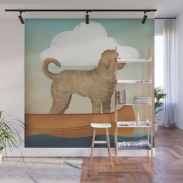 Doodle Goldendoodle Labradoodle Canoe Fowler Wall Mural