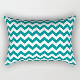 Chevron (Teal/White) Rectangular Pillow